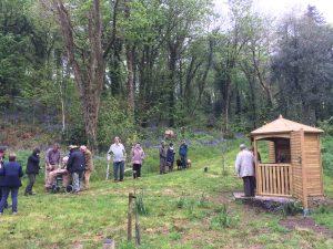 Dedication of Stuart Gazebo in Bluebell covered Glen