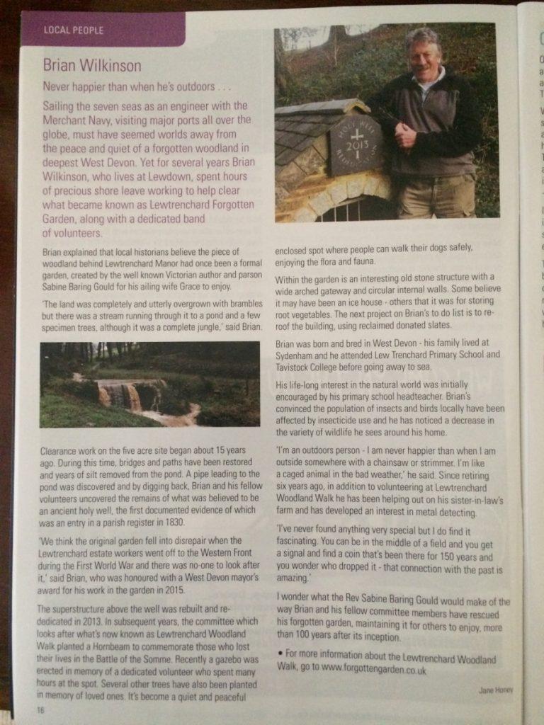 Article from Oke Links Mar/Apr2019 Brian Wilkinson